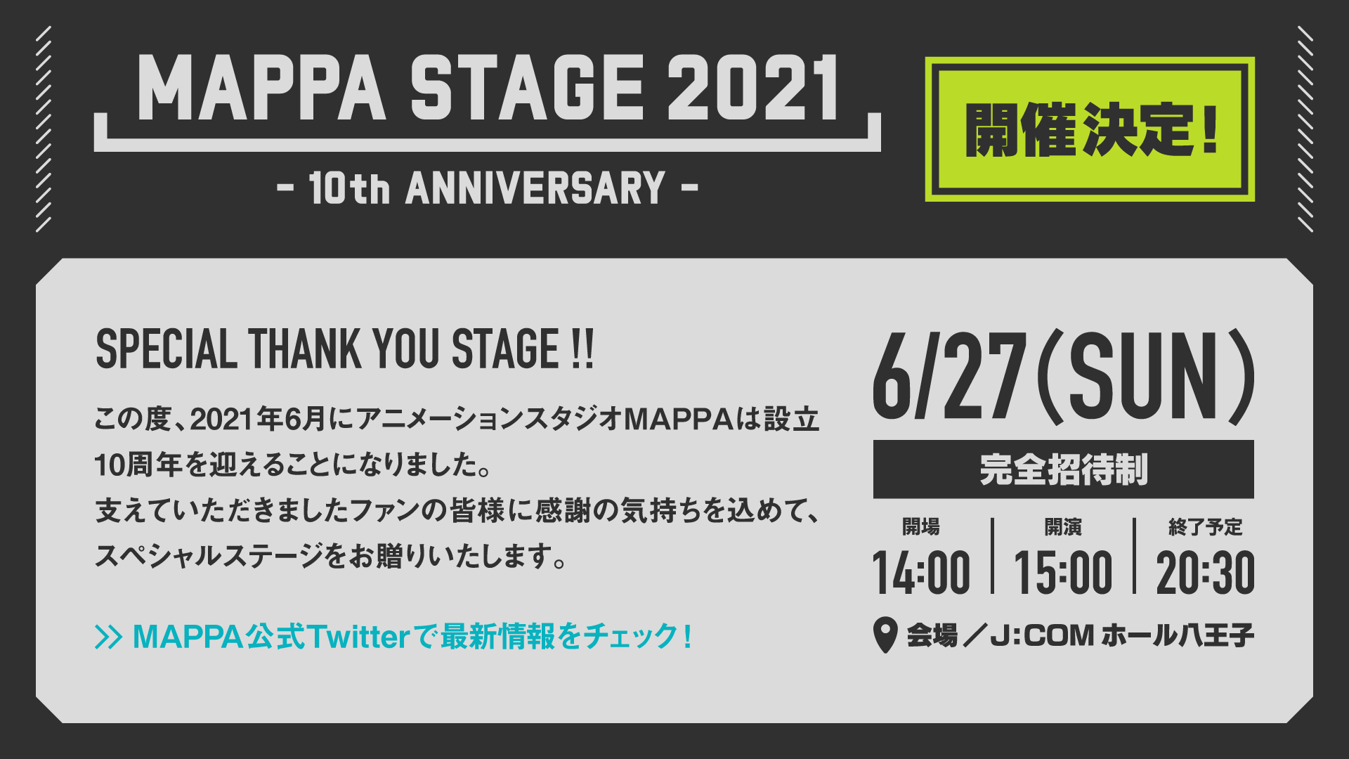 MAPPA STAGE 2021 -10th Anniversary-